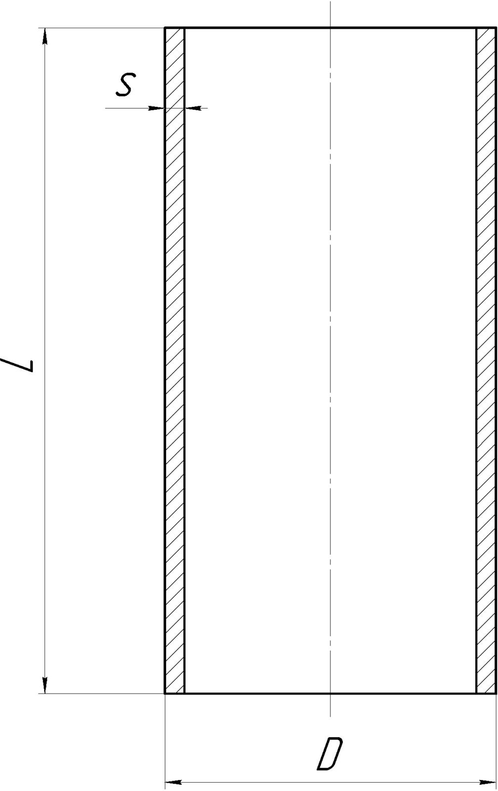 Обечайка цилиндрическая чертеж